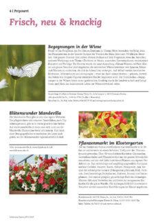 Presseartikel: Fleurs merveilleuses  (Schweizer Garten | Juin 2015)