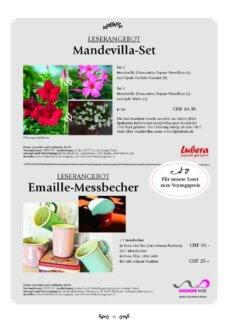Presseartikel: Leserangebot Mandevilla-Set (Freude am Garten | April 2017)